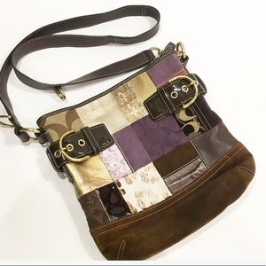 Authentic Coach Patchwork Crossbody bag purse